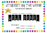 Certificate - Student of The Week