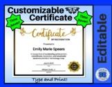 Certificate Template - Butterflies - Editable