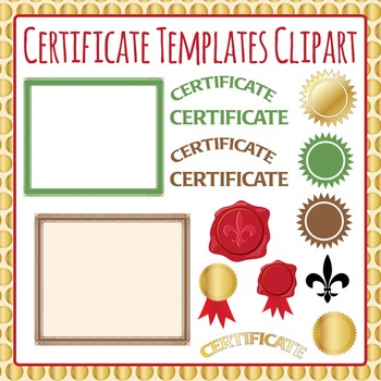 Certificate Template - Formal Clip Art Pack for Commercial Use
