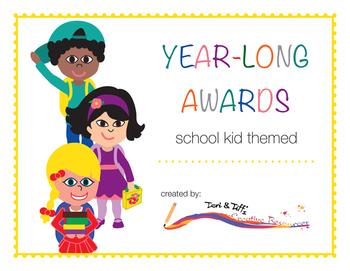 Year-Long Awards (School Kid Themed)