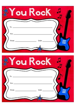 "Certificate - ""YOU ROCK"""