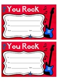 "Certificate - ""YOU ROCK"""