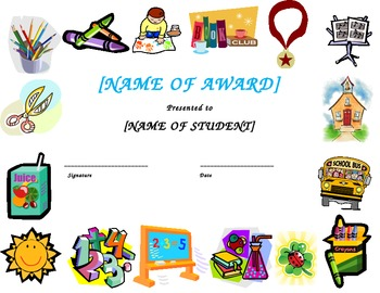 Certificate and Awards Template
