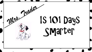 Certificate for 101st Day of School