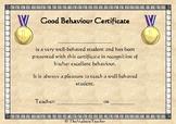 Certificate for Good Behaviour UK