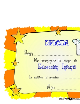Certificate for Preschool