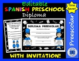 Certificate in Hand Theme Spanish Preschool Diploma - Editable