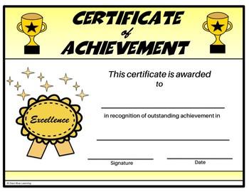 Certificate of Achievement - Editable