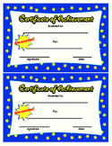 Certificate of Achievement Colorful Printable