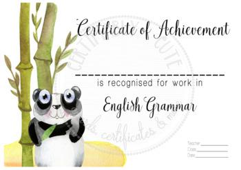 Certificate of Achievement English Grammar 2
