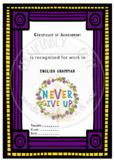 Certificate of Achievement English Grammar