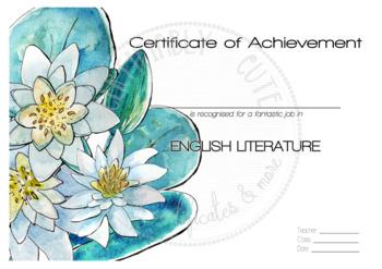 Certificate of Achievement English Literature 1