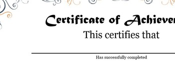 Certificate of Achievement - FREE!