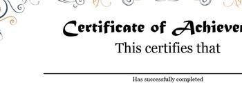 Certificate of Achievement - FREE!