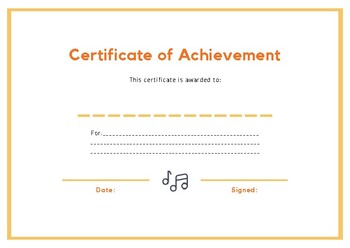 Certificate of Achievement II
