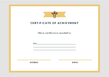 Certificate of Achievement IV