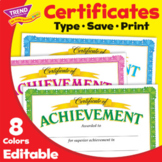 Certificate of Achievement | Multiple Colors | Print & Digital