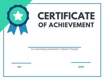 Certificate of Achievement - Speech