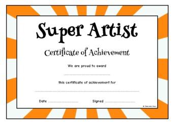 Certificate of Achievement (Super Professions)