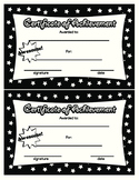 Certificate of Achievement in Black White