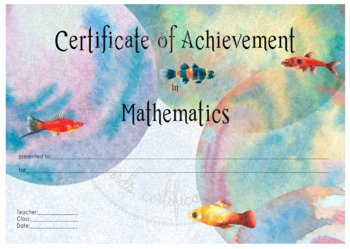 Certificate of Achievement in Mathematics
