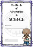 Certificate of Achievement in Science 1
