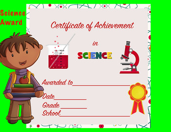 Certificate of Achievement in Science