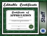 Certificate of Appreciation - Editable