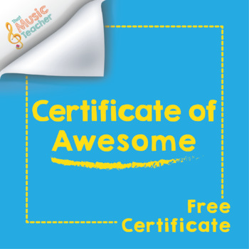 Certificate of Awesome | Free Music Certificate