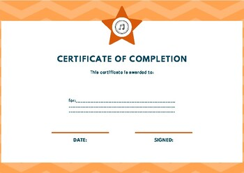 Certificate of Completion IV