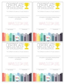 Certificate of Excellence by Color My Day