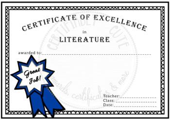 great job certificate teaching resources teachers pay teachers