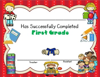 certificate of first grade completion editable certificates