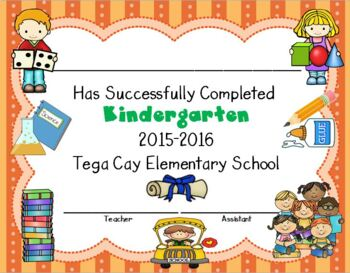 Certificate of Kindergarten Completion - Editable Certificates