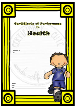 Certificate of Performance in Health