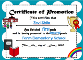 Certificate of Promotion [Editable]