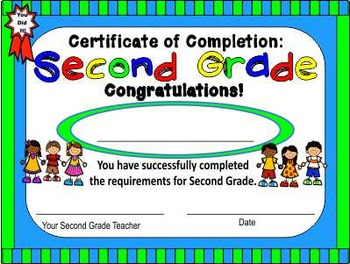 this free printable certificate of promotion to the second grade - 6th Grade Graduation Certificate Template