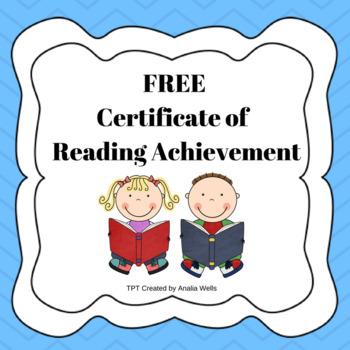 Certificate of Reading Achievement (TRC)