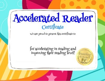 Certificate of Reading Improvment