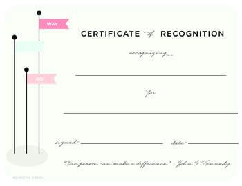 certificate of recognition teaching resources teachers pay teachers