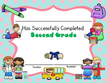 Certificate of Second Grade Completion - Editable Certificates