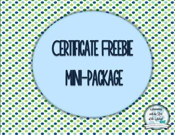 Certificate package - Freebie