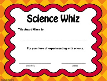 End of Year Awards- Editable Certificates