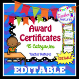 End of Year Awards EDITABLE CERTIFICATES FOR K-3