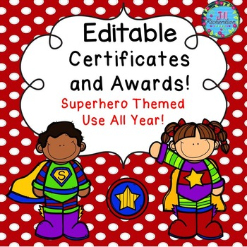 Superhero Certificates and Awards (Editable)