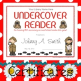 Certificates: 4 Detective Reading Awards - Some parts are modifiable PDFs