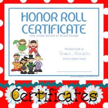 Certificates: 6 Circus Fun Awards - Modifiable PDFs