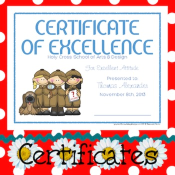 Certificates: 6 Detective Awards - Modifiable PDFs