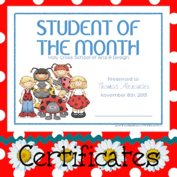 Certificates: 6 Ladybugs Awards - Modifiable PDFs
