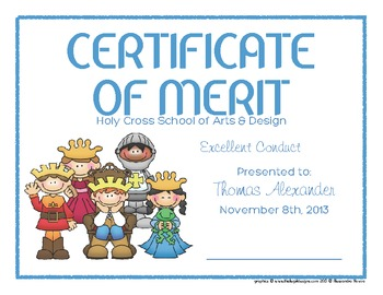 Certificates: 6 Royalty Awards - Modifiable PDFs